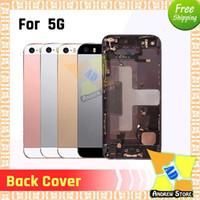 De haute qualité pour iPhone 5 5G SE pleine 5S boîtier Assemblée couvercle de la batterie porte arrière avec Flex câble Livraison gratuite