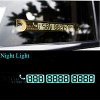 بطاقة وقوف السيارات المؤقتة رقم الهاتف إخطار بطاقة ليلة ضوء مصاصة لوحة سيارة التصميم رقم الهاتف بطاقة الذهب والفضة