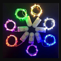 Free shipping Newest CR2032 battery operated 1M 10 LEDS 2M 2...