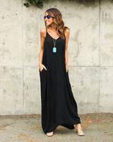 Elegent sehr beliebt einteilige Maxi Kleider Europa und den Vereinigten Staaten Sommer Frauen unregelmäßigen Gürtel Kragen Tasche lange Röcke
