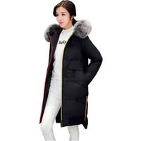 2e1980b9cfbf Mäntel Lange Neue Winterjacke Frauen Mode Mit Kapuze Baumwolle Mantel Dicke  Große frauen Jacken Kleidung Vestidos