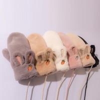 Eldivenler polar termal kış eldiven 2021 süet kadınlar için kadife ve tüysüz kulakları boyun