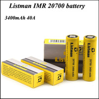 Authentic Listman IMR 20700 High Drain Battery 3400mAh Recha...