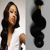 Vendita calda Grado 8A Non trasformato Brasiliano Capelli Body Wave Human Hair Bulk per intrecciare 100g Capelli neri naturali