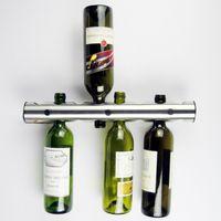 Supports de vin en acier inoxydable délicat Barre Support mural 12 et 8 bouteilles Style européen Barware Accessoires de cuisine Gadget