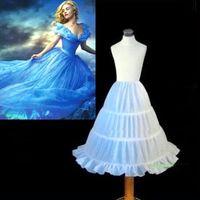 安く白い花の女の子のペチコートクリノリンの赤ちゃんキッズリトルガールボールガウンアンダースカート安い女の子のページェントドレス子供のアクセサリー