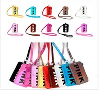Card ID Holders Badge with Lanyard Pink Laser 10 Colors Coin...