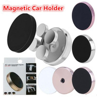 Universele stok magnetische autohouder Mini mobiele telefoon auto platte mounts met retail pakket voor iPhone 12 mini 11 pro x xs max
