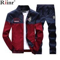 Riinr Brand New Men Sets Fashion Autumn Spring Sporting Suit...