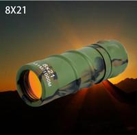 8x21 binocolo ad alta potenza ad alta definizione a basso livello di luce visione notturna concerto pellicola rossa