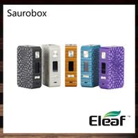 Eleaf Saurobox Box Mod 220W TC مادة راتنج جديدة مع شاشة ملونة TFT 0.96 بوصة مميزة وفاخرة المظهر 100 ٪ الأصلي