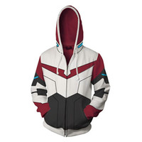 Mens Cardigan Coat Hooded Hoodies Voltron Patchwork Print Sw...