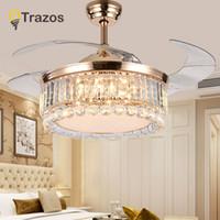 TRAZOS 42 Zoll LED Goldene Deckenventilatoren Mit Licht Fernbedienung 220v  Wohnzimmer Schlafzimmer Hause Deckenleuchte Fan Lampe
