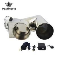 """PQY RACING - Универсальный электрический предохранительный выпускной клапан из нержавеющей стали 2,5 """"/ 3"""" с беспроводным дистанционным управлением PQY-CT93"""