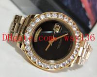 송료 무료 1889 옐로우 골드 골드 블랙 오닉스 시계 118208 남성 무브먼트 자동식 무브먼트 41mm 다이아몬드 남성 캐주얼 시계