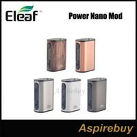 Eleaf Istick Power Nano Box MOD 40W TC Box MOD VWバイパススマートTC NI、TI、SS、TCR-M1、M2、M3モード小型サイズデュアルサーキット保護100%オリジナル