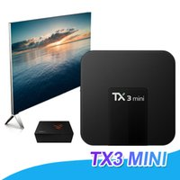 TX3 Mini Smart TV Box Amlogic S905W WiFi Android 7.1 1GB 8GB 2GB 16GB 4K HD TV Box Reproductor multimedia 2.4GHz VS X96 Mini MXQ PRO