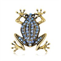Elegante rana cristallo smalto spilla pin per i vestiti degli uomini donna borsa sciarpa vintage fibbia broccia gioielli alla moda bella festa regalo all'ingrosso