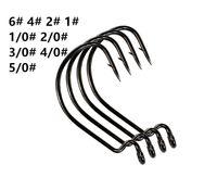 Black níquel aço inoxidável largamente gap gancho gabarito gabarito de pesca gancho soft shad farcobook 100 pc / lote