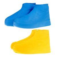 Hombres Mujeres Zapatos Impermeables Antideslizante Impermeable Reutilizable Conjunto Capa de Lluvia Botas de Zapatos Cubierta antideslizante Zapatos Accesorios Promoción SC094