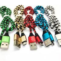 화웨이는 고품질의 스마트 폰 삼성을 위해 케이블을 충전 얼룩말 스타일의 금속 나일론 브레이드 마이크로 USB 케이블 합금 데이터