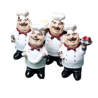 SaiDeKe Medium Vintage American country happy Chef resin Fig...