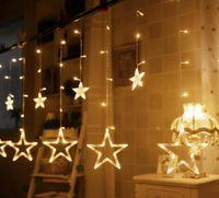 3M138LED Lanterne Flash Light String Rideau Lumière Salle De Mariage Arranger Fenêtre Affichage Magasin Jardin Étoile Rideau Fond Lumière