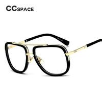 CCSPACE 2017 New Arrival Óculos de Armação Clássica Designer de Marca Das Mulheres Dos Homens EyeGlasses Transparente Quadrado Retro Eyewear C'45021