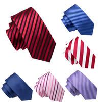 Mens design Striped Silk Tie Set handkerchief and cufflinks Jacquard Woven Wholesale Necktie Men's Tie Set Hanky Cufflinks free shipping