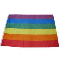قوس قزح العلم 90x150 سنتيمتر مثليه مثلي الجنس فخر البوليستر lgbt العلم راية البوليستر الملونة قوس قزح العلم للزينة الشحن السريع