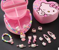 ensembles de bijoux pour enfants bijoux bande dessinée 14psc les types de bracelets bijoux collier anneaux belle rose d'expédition gratuits