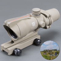 Trijicon Tan Tactical 4X32 Scope Sight Real Fiber Optics Red...