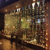 ستارة خفيفة 3Mx2M 4Mx2M 6Mx2M 8Mx2M 10Mx2M أضواء LED سلسلة عيد الميلاد الجنية أضواء المنزل لحضور حفل زفاف / حزب / الستار / حديقة الديكور