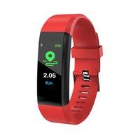 115 reloj inteligente Plus ritmo cardíaco rastreador de ejercicios inteligente Reloj impermeable de los deportes pulsera inteligente Android iPhone IOS Para