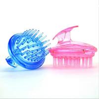 Pro Saç Yıkama Baş Derisi Şampuan Hava Fırça Tarak Yumuşak Masaj Fırçaları Silikon Temizleme Saç Dökülmesi Bakım Aracı Azaltmak