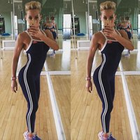 Pantalons entraînement Fitness femme Leggings Stripped Vêtements Jumpsuit
