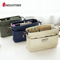 Canvas Purse Organizer Bag Organizer Insert with Compartment...