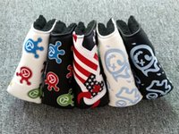 5options golf putter headcover crown rat US flag embroidery ...