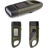 مصغرة الطوارئ اليد الساعد دينامو الشمسية مضيا قابلة للشحن الصمام ضوء مصباح شحن الشعلة قوية للتخييم في الهواء الطلق