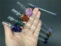 Qualitativ hochwertige Glas Schädel Pfeife Tabak Handpfeifen für das Rauchen One Hitter Pipe Zigarettenfilter Glas Rauchöl Brenner Rohre