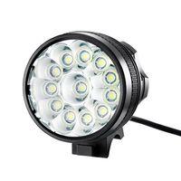 مصباح يدوي مقاوم للماء 30000LM 12 × كري XM-L T6 LED 6 × 18650 دراجات ركوب الدراجات الخفيفة مصباح يدوي