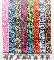 Livraison gratuite 10 pcs / lot bande dessinée imprimé léopard mobile téléphone lanière téléphone portable sangles breloques porte-clés bretelles petit gros # 91905