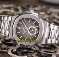 Alta calidad Nuevo deporte 5726/1 5726 / 1a-001 Fecha Moon Fase Dial Mecánico Mecánico Reloj automático 316L pulsera de acero Relojes deportivos Eternidad