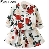 Keelorn Girls Clothing Sets 2017 New Spring Style Rose Flora...