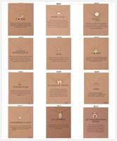 12 스타일 Dogeared 초커 카드와 함께 골드 서클 코끼리 진주 사랑 날개 크로스 키 펜던트 목걸이 패션 주얼리에 대한