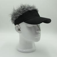 참신 머리 바이저 모자 골프 가발 모자 가짜 조정 선물 참신한 파티 고객 웃기는 모자 Wholsale 무료 배송