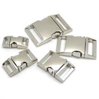 Hebilla de metal curvado de liberación lateral 10pcs / lot para bolsa hebillas de paracord DIY para pulsera
