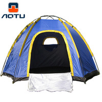 Hexagonal Camping Tent for 3- 4 Persons UV- resistant Outdoor ...