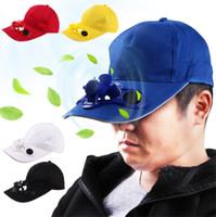 Fan Snapbacks Beyzbol Cap Soğutma ile Fan İçin Golf Beyzbol Spor Yaz Açık Spor Güneş Güneş Cap Soğutma Güneş Enerjisi Şapka Cap