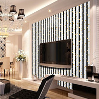 3D Fashion  Golden Circle Vertical Stripes Wallpaper Living Room Background Wall Decor Art Wall Paper SA-1108